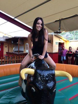 toro mecanico para eventos deportivos en Alicante
